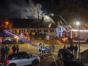 Wohnhausbrand in Starnberg
