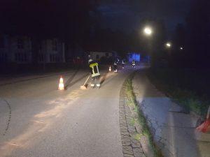 Abendliche Ölspur … & Übungsbeginn 2. Halbjahr