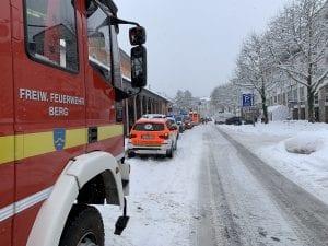 Gasaustritt, Personenunfall Zug & schneebedingte Bitte
