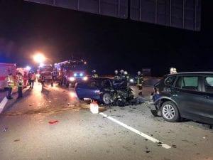 Erstmaßnahmen bei Verkehrsunfall auf BAB 8 Stuttgart-München