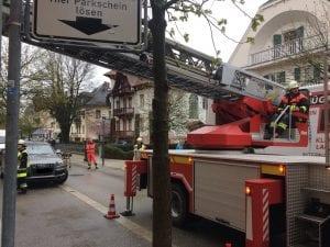 Brandalarm und Personenrettung Drehleiter