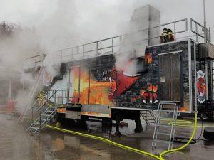 Erneute Heißausbildung in Brandcontainer