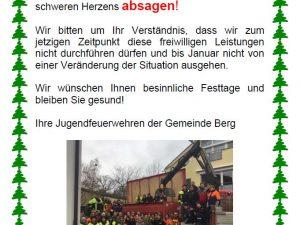 Absage Christbaumsammeln 2021 – Leider!!